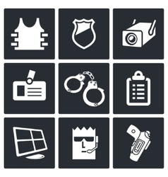 Security icon collection vector