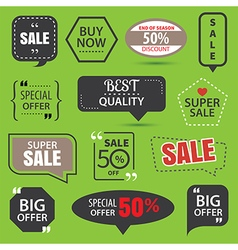 Set of commercial sale stickers elements badges vector image vector image