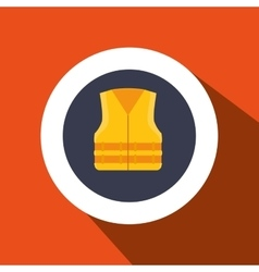 Vest protection industrail icon vector