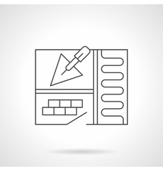 Warm floor installing flat line icon vector