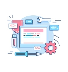 Web programming development concept vector image