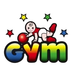 Baby gym toddler exercise vector