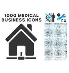 Home internet connection icon with 1000 medical vector