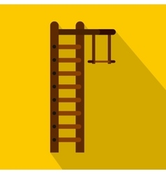 Swedish ladder icon flat style vector image