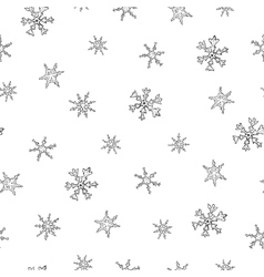 Christmas seamless pattern with snowflake vector