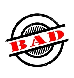 Bad rubber stamp vector