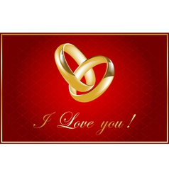 valentine card with wedding rings vector image