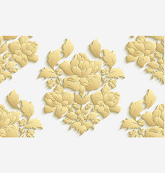 Wallpaper in the style of baroque damask vector
