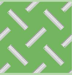 Metallic ruler seamless pattern vector