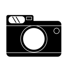 Photo camera picture travel pictogram vector