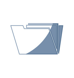 Folder file archive document technology vector