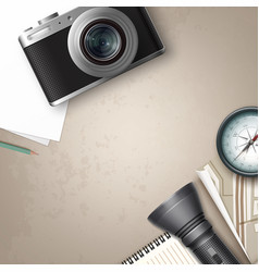 Travel still life vector