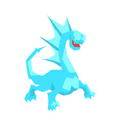 Turquoise dragon mythical and fantastic animal vector