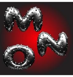 Metal figure vector image