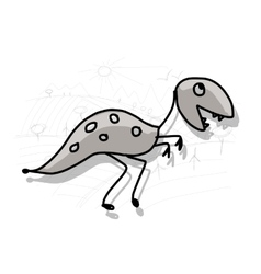 Dinosaur funny sketch for your design vector