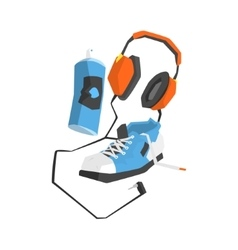 Graffiti Street Art Equipment Set vector image