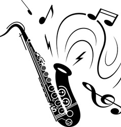 Saxophone music concept vector image