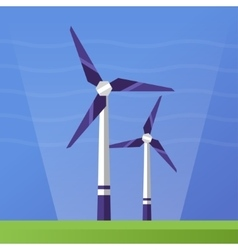 Wind Power - flat design single icon vector image