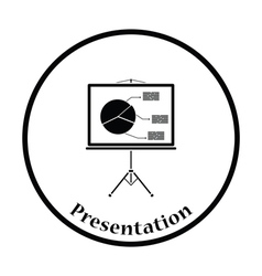Icon of presentation stand vector