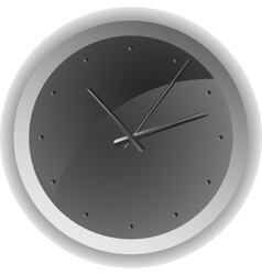 Analog clock minimum design vector