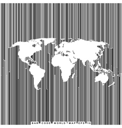Bar code line world map vector