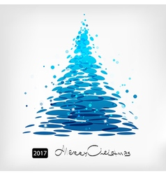 Blue christmas tree art vector