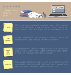 Business office template vector image