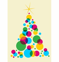 Christmas tree designed with bubbles vector image vector image