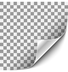 Curled corner with white background vector