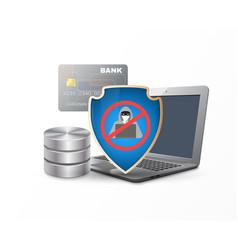 data protection shield vector image