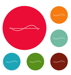 Equalizer meter icons circle set vector