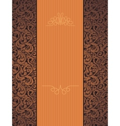 floral beautiful orange background vector image