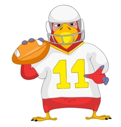 Funny parrot rugby vector