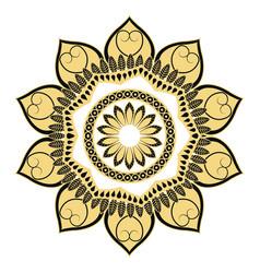Golden mandala flourish classic decoration vector