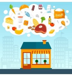 Grocery store concept vector image vector image