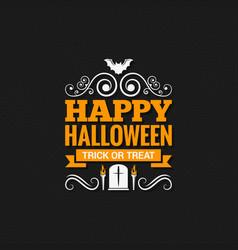 Happy halloween vintage design background vector
