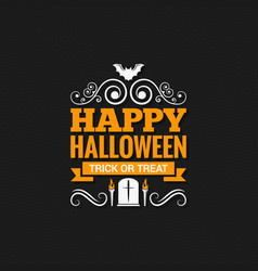 happy halloween vintage design background vector image vector image