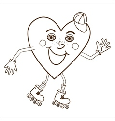 Happy heart abstract character vector image