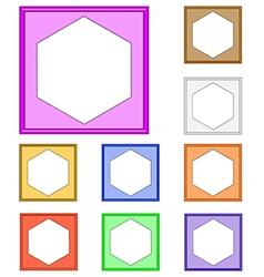 Modern frame hexagon vector