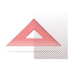 Red plastic transparent triangle vector
