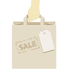 Retail shopping bag stamped as a promotional sale vector