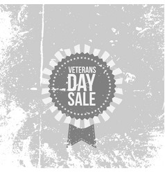 Retro banner with veterans day sale text vector