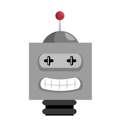Robot toy kid isolated icon vector
