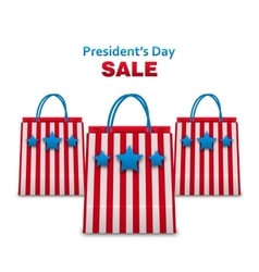 Set shopping bags in usa patriotic colors for vector