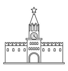 Spasskaya tower of Moscow Kremlin icon vector image