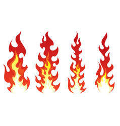 stylized fire on white background vector image vector image
