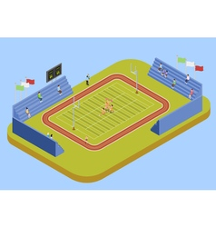University sport complex stadium isometric vector