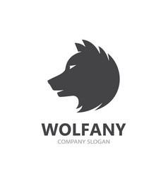 Wolf and predator logo combination vector