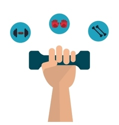 Weight and gloves icon fitness design vector