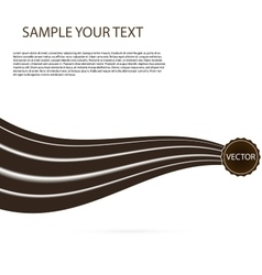 Abstract black chocolate background brown vector
